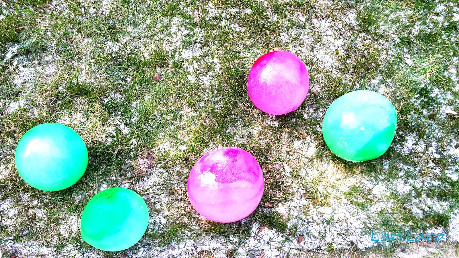 Bei Kälte Eisballons machen