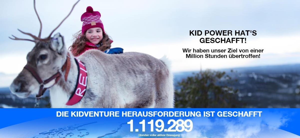 Kid Power hat's geschafft!
