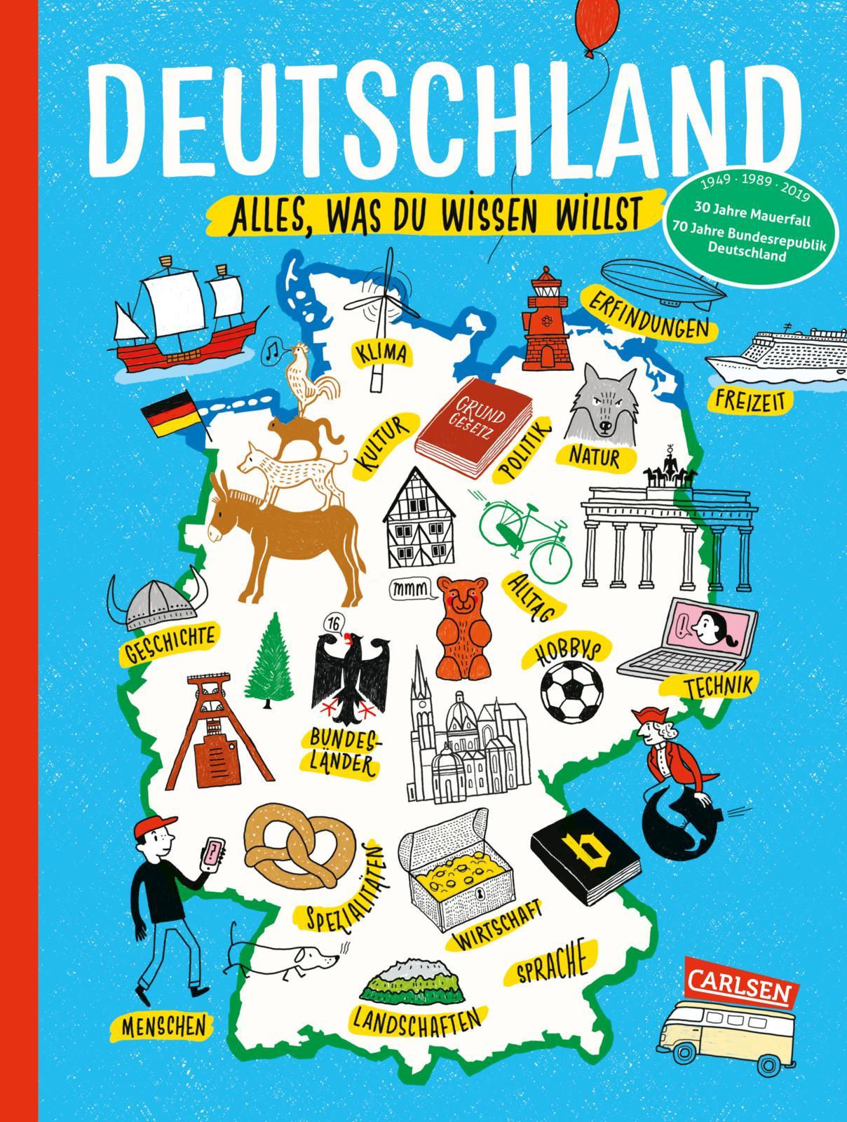 Ein Buch über Deutschland für Kinder ab 8 Jahre aus dem Carlsen Verlag