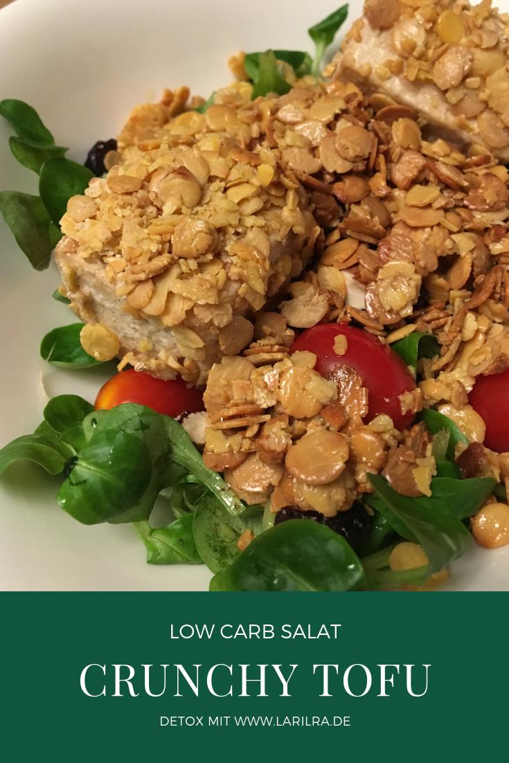 Detox mit low-car Salat und Tofu