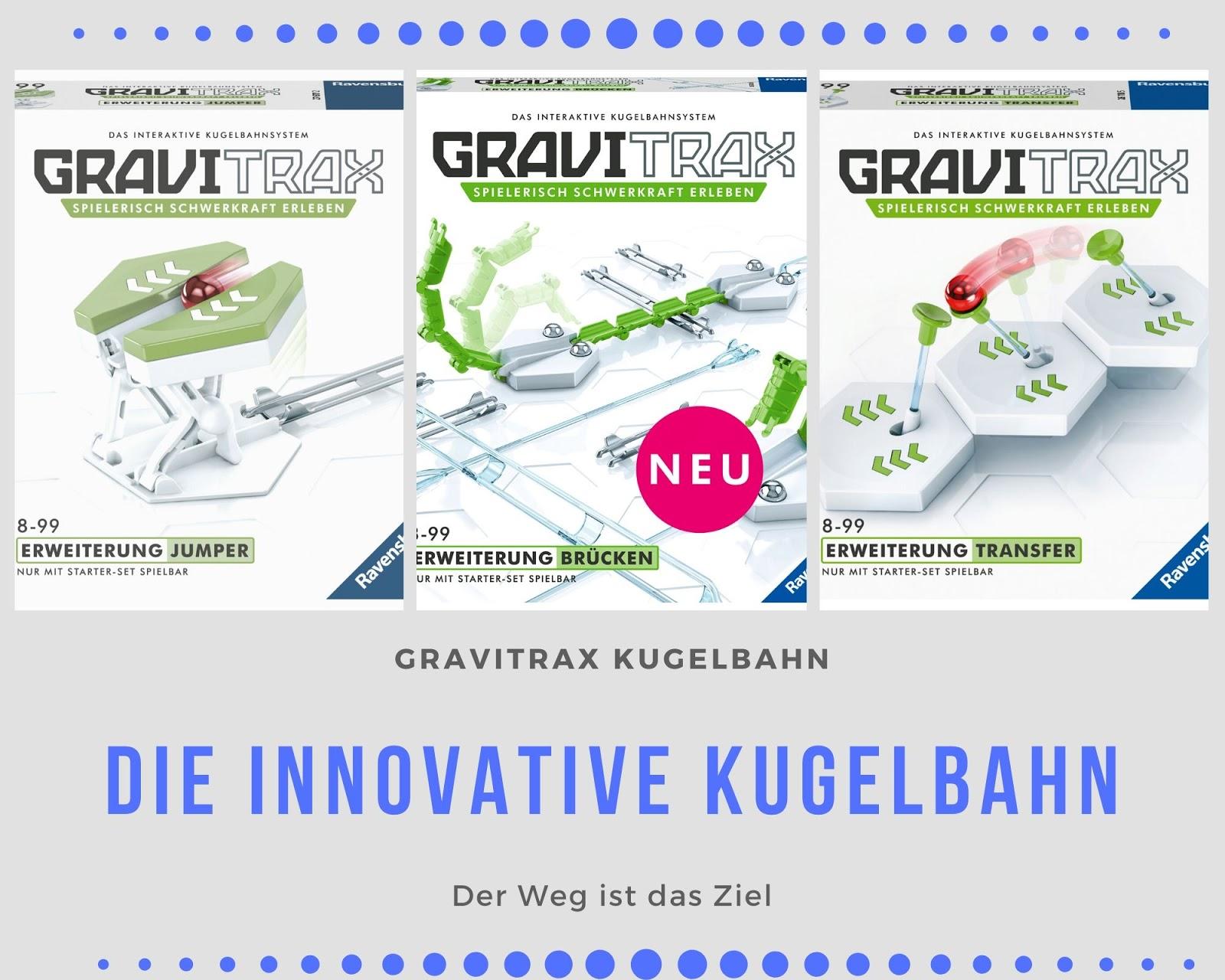 GraviTrax Kugelbahn Erweiterung Bruecke und Actionsteine Jumper und Transfer
