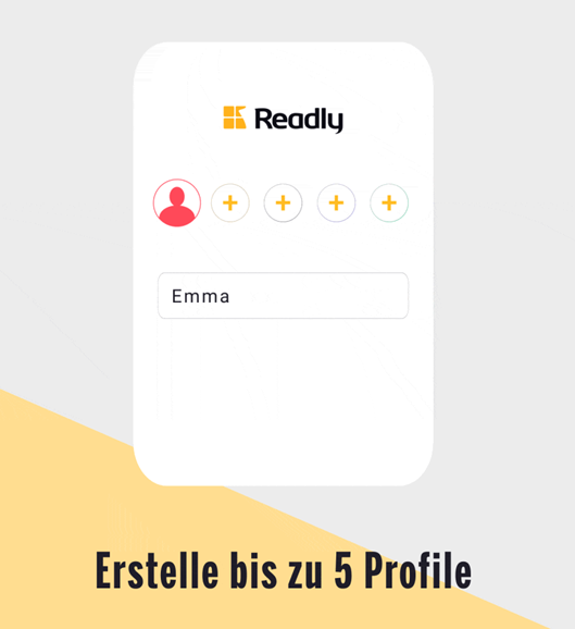 Readly App bis zu 5 Profile erstellen