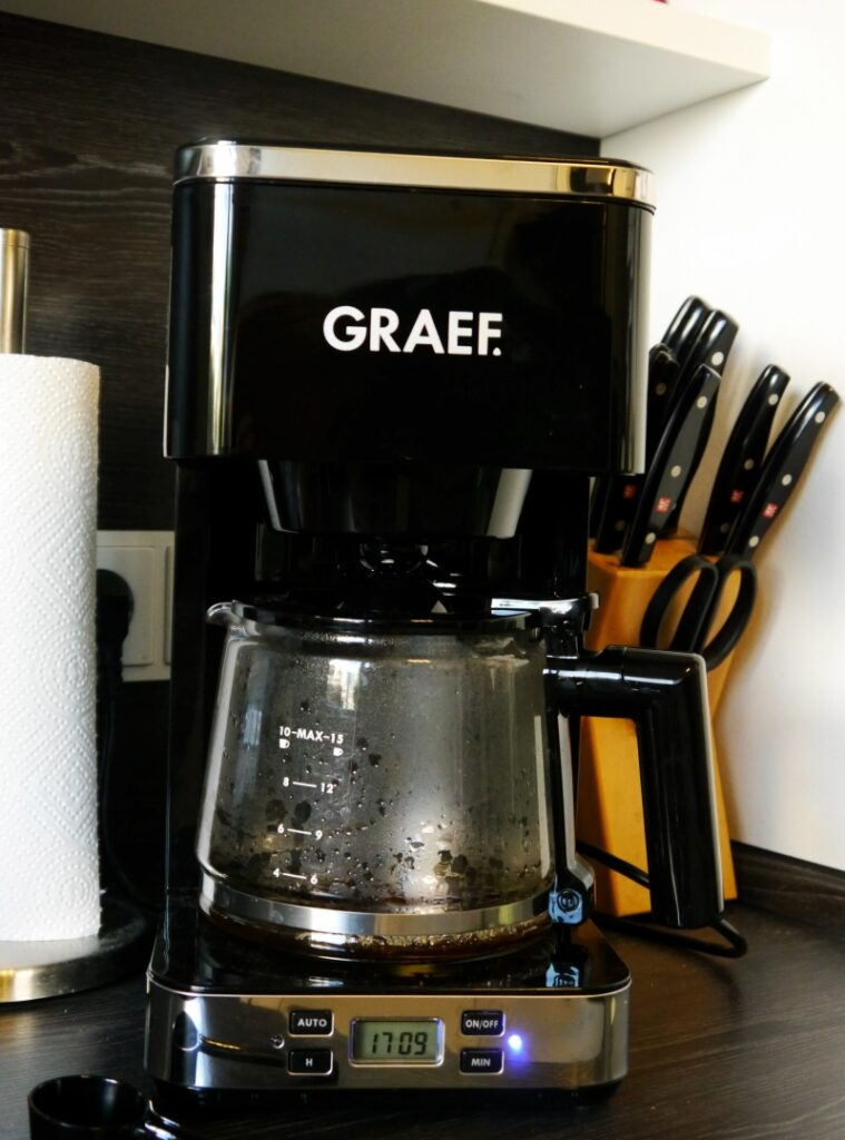 Kaffeemaschine mit Glaskanne
